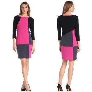 NWT CALVIN KLEIN   Color Block Shift Dress Sz. 4